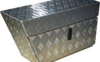 Aluminium Chequerplate Under Body Ute Box Left 80l Stto3400 for proportions 2000 X 2000