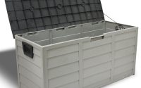 Barton 44 In X 194 In Patio Deck Storage Box In Grey 94008 The inside proportions 1000 X 1000