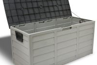 Barton 44 In X 194 In Patio Deck Storage Box In Grey 94008 The with proportions 1000 X 1000