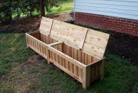 Custom Made Custom Western Red Cedar Patio Storage Bench Patio In pertaining to dimensions 1600 X 1200