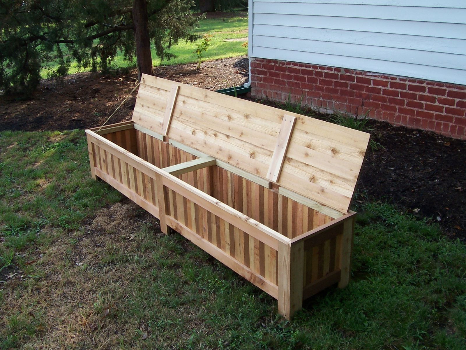 Custom Made Custom Western Red Cedar Patio Storage Bench Patio In pertaining to dimensions 1600 X 1200