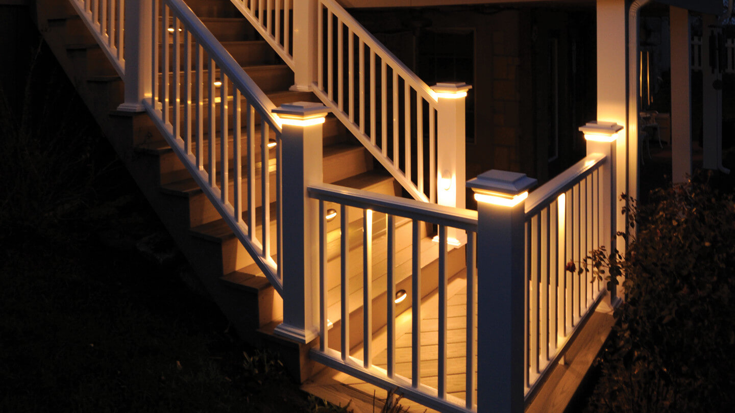 Deck Railing With Lights Storage Box Ideas