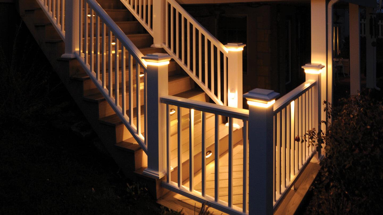 Deck Rail Lighting Deck Lights Outdoor Lighting Azek in sizing 1440 X 810