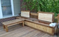 Deck Storage Bench And Shelf Fromy Love Design Top Features Deck intended for sizing 1024 X 768