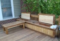 Deck Storage Bench And Shelf Fromy Love Design Top Features Deck regarding sizing 1024 X 768