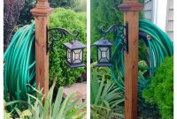 Diy Hose And Lantern Holder 4x4x4 Deck Post Quikrete Deck Post within dimensions 1936 X 1936