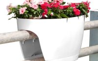 Greenbo Xl Deck Rail Planter Box With Drainage Trays 24 In Color inside sizing 1000 X 1000