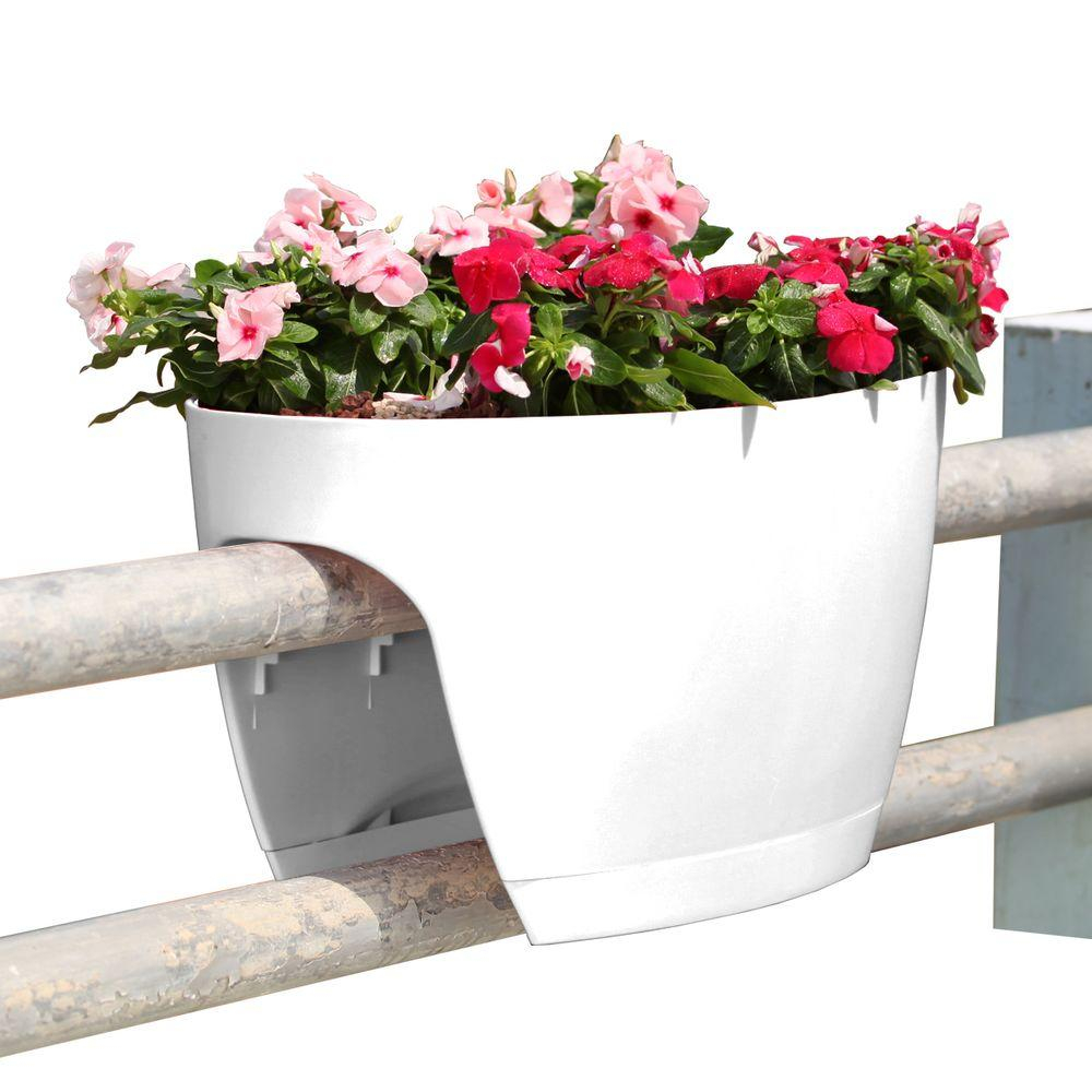 Greenbo Xl Deck Rail Planter Box With Drainage Trays 24 In Color with regard to measurements 1000 X 1000