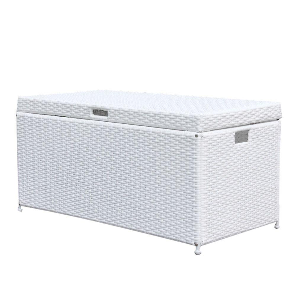 Jeco White Wicker Patio Furniture Storage Deck Box Ori003 B The for size 1000 X 1000