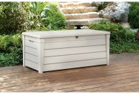 Keter Brightwood Outdoor Plastic Deck Box All Weather Resin Storage with regard to measurements 2000 X 2000