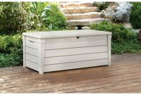 Keter Brightwood Outdoor Plastic Deck Storage Container Box 120 Gal for measurements 2000 X 2000