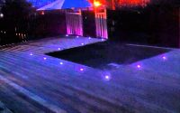 Led Decking Lights On A Job Completed Fedeck Fencing Decking intended for sizing 1280 X 720