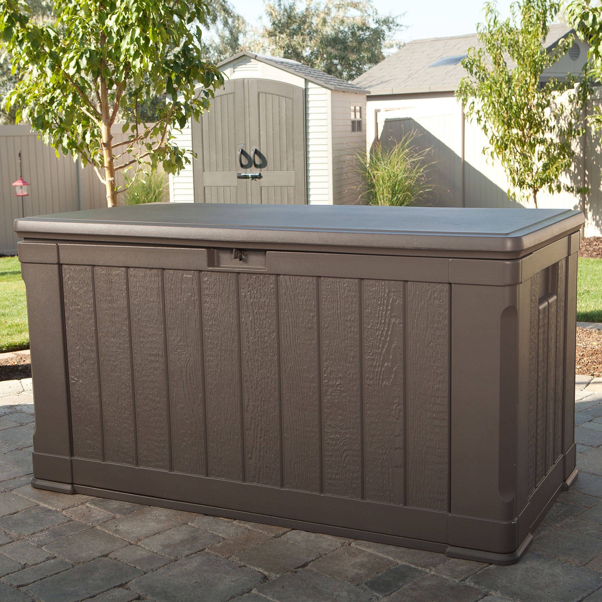 Lifetime Outdoor Storage Box 116 Gallon 60089 Walmart for proportions 2000 X 2000