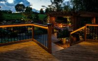 Lighting Ideas Deck Lighting Idea With Rope Lights Under Pergola for sizing 1308 X 873