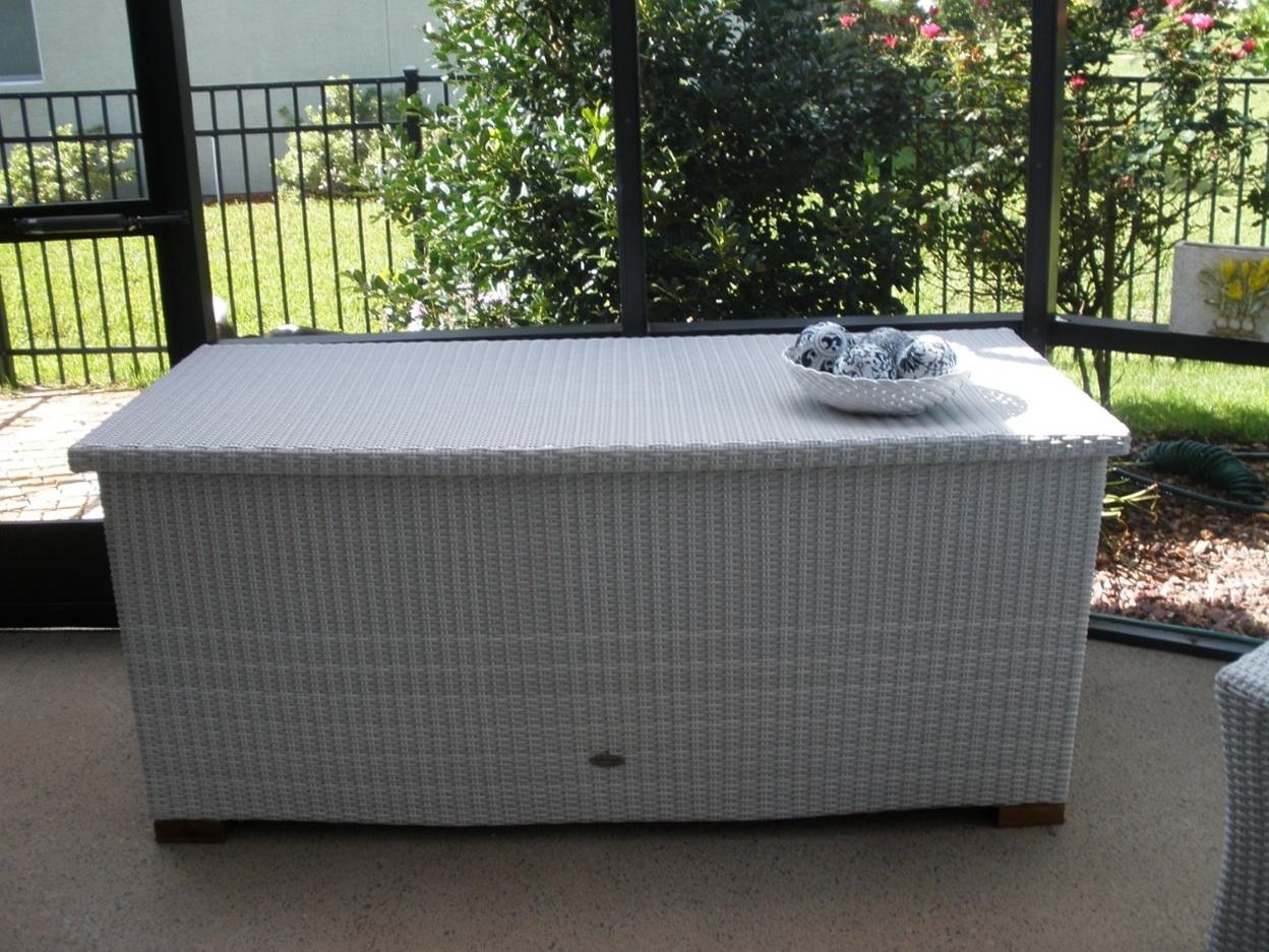 Outdoor Cushion Storage Nz Deck Storage Box Ideas
