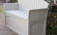 Outdoor Patio Storage Bench With Love Seat Perfect Addition To Your with regard to measurements 2400 X 2400