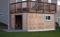 Panofish Building A Shed Under A Deck regarding measurements 1200 X 797