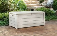 Pool Storage Bin Keter Box Rockwood Deck Grey Outdoor 150 Gallon for sizing 1092 X 1092