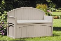 Resin Deck Box Bench Patio Outdoor Garden Plastic Storage Seat within measurements 1000 X 1000