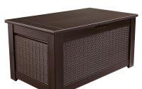 Rubbermaid Bridgeport 93 Gal Resin Storage Bench Deck Box 1875233 with regard to measurements 1000 X 1000