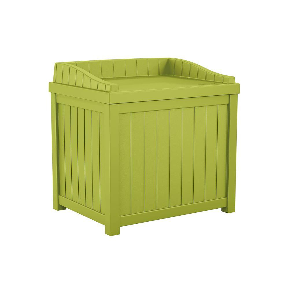 Suncast 22 Gal Green Small Storage Seat Deck Box Ss1000gd The with sizing 1000 X 1000
