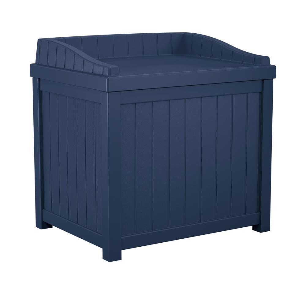 Suncast 22 Gal Navy Blue Small Storage Seat Deck Box Ss1000nd The for dimensions 1000 X 1000