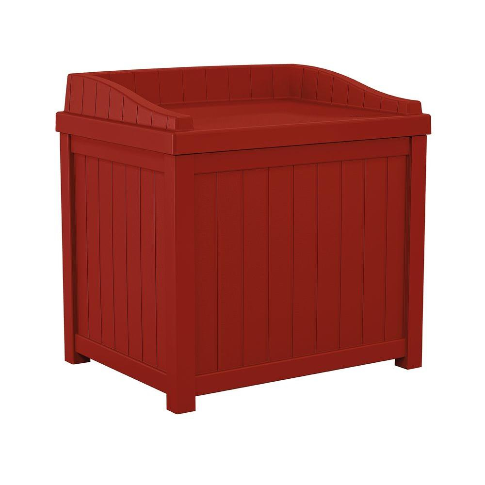 Suncast 22 Gal Red Small Storage Seat Deck Box Ss1000rd The Home in proportions 1000 X 1000