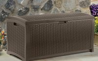 Suncast 99 Gallon Java Resin Wicker Deck Box Dbw9200 Walmart with proportions 3200 X 3200