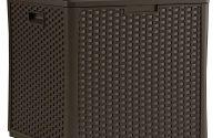 Suncast Wicker 60 Gal Resin Storage Cube Deck Box Bmdb60 The Home with size 1000 X 1000