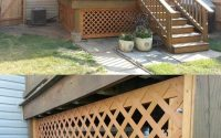 Under Deck Lattice With A Removable Panel And Locks Hides The Ugly in size 739 X 1143