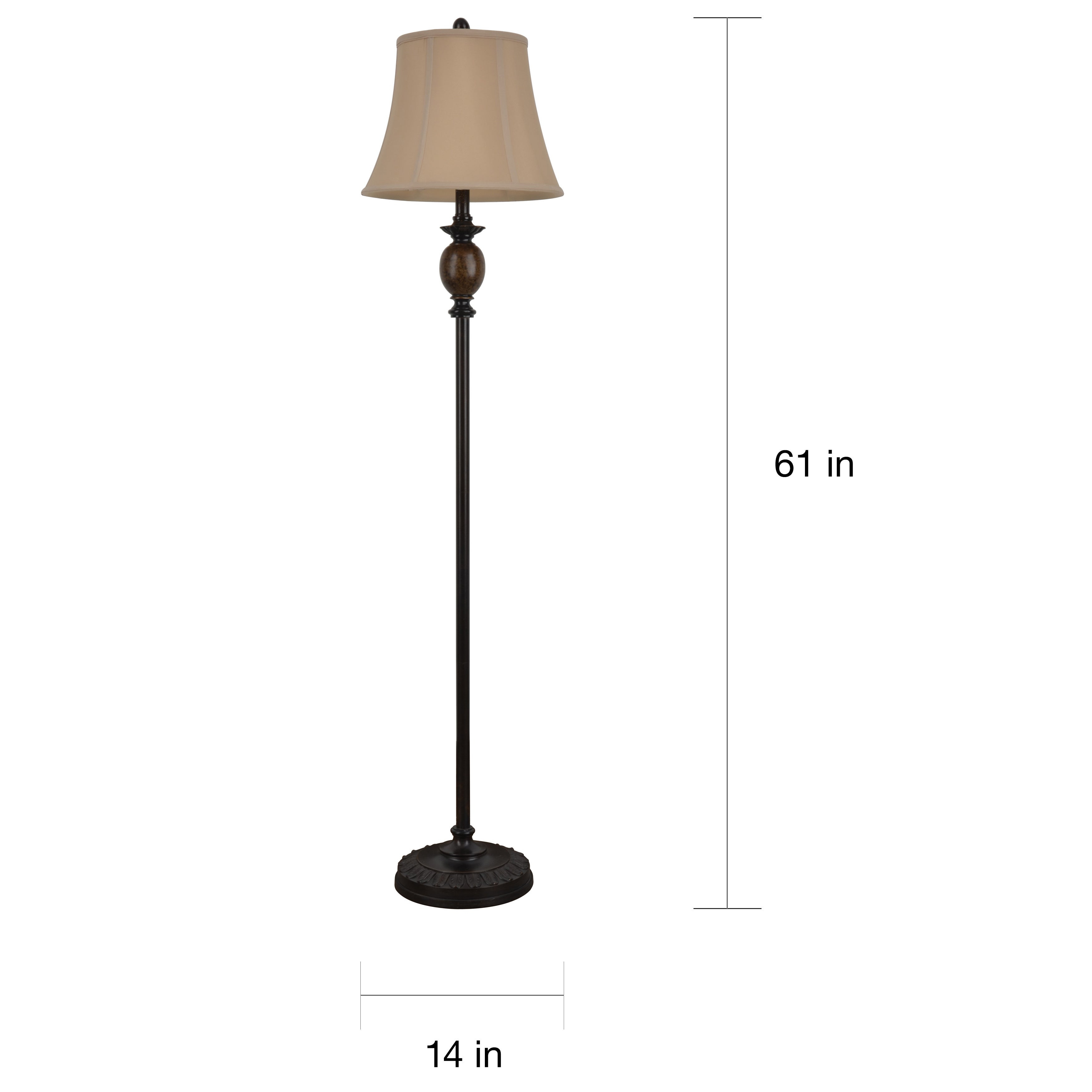 61 Inch Bronze Finished Floor Lamp for dimensions 3500 X 3500