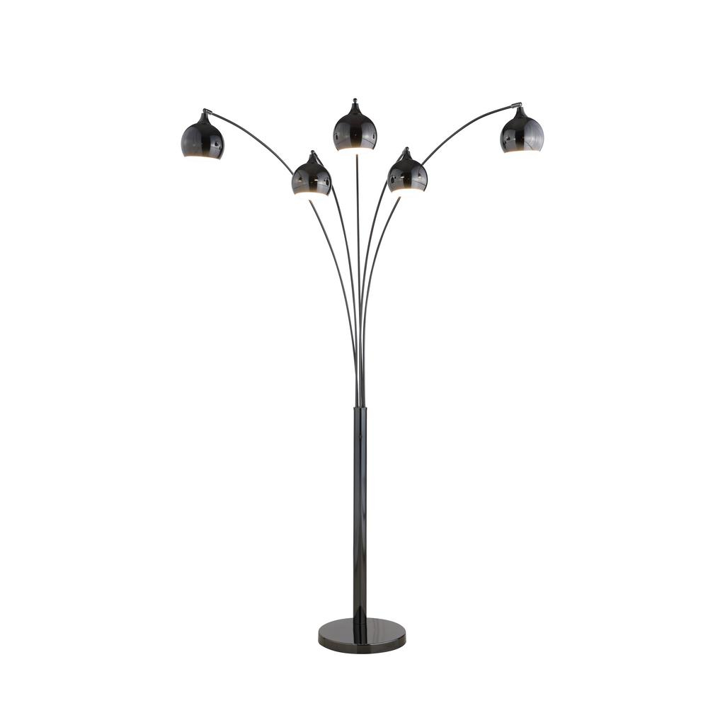 Artiva Amore 86 In Jet Black Led Arc Floor Lamp With Dimmer with regard to size 1000 X 1000