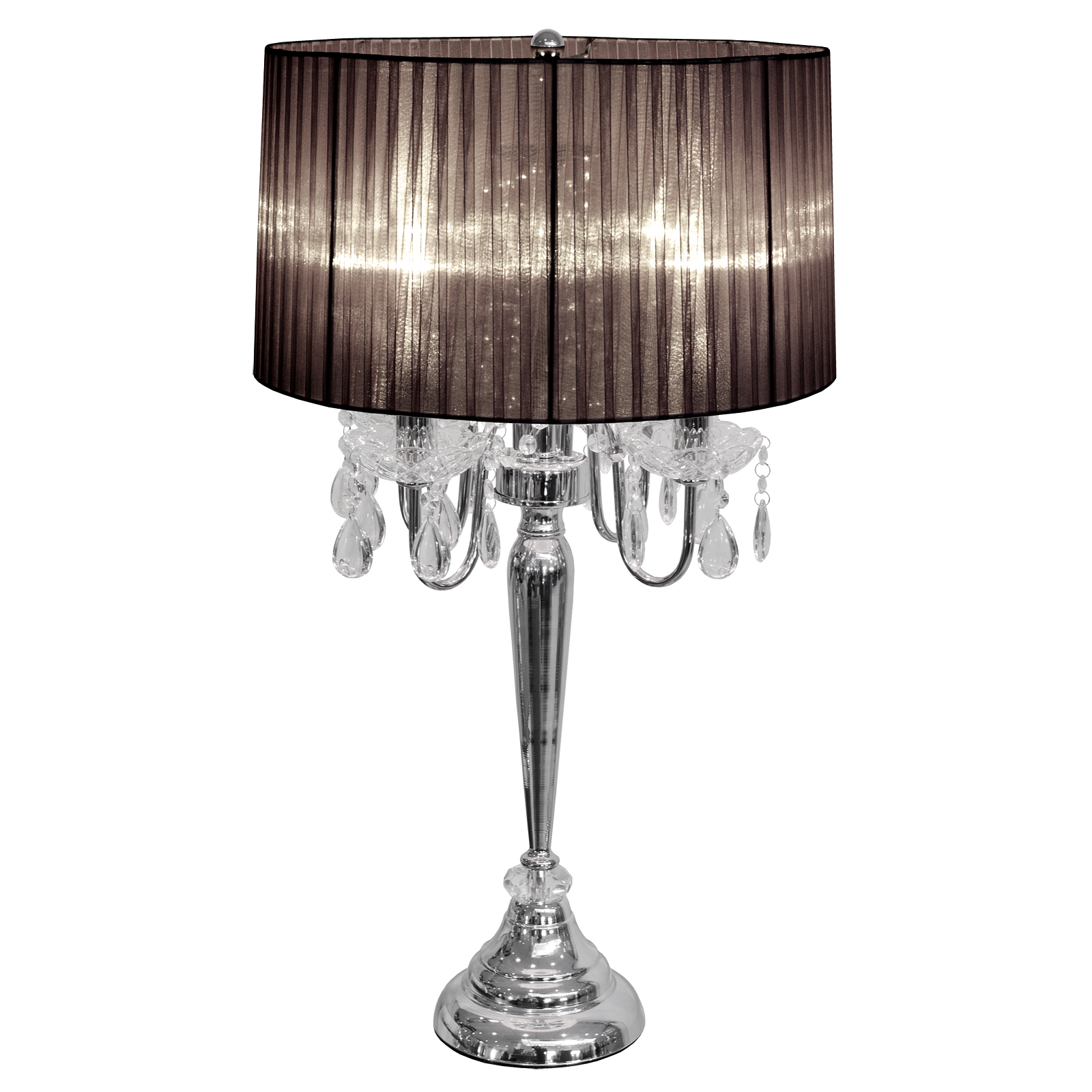 Beaumont 4 Light Black Fabric Shade Table Lamp with sizing 1600 X 1600