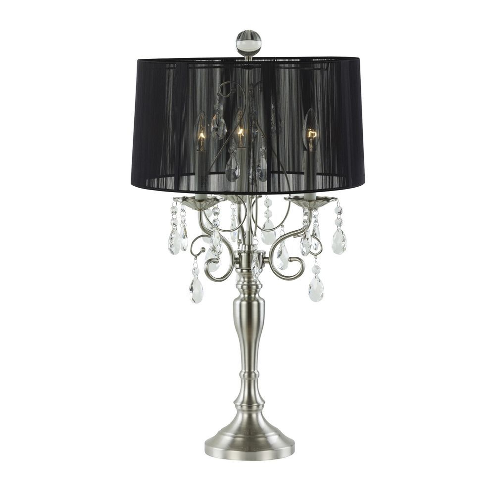 Crystal Chandelier Table Lamp With Drum Shade Awesome throughout sizing 1000 X 1000