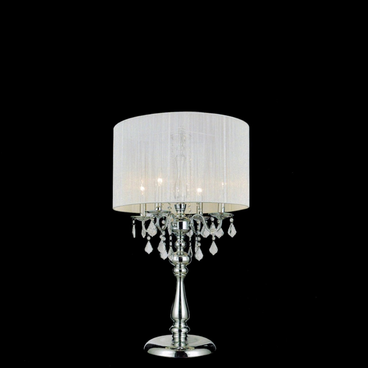 Crystal Chandelier Table Lamp With Drum Shade Dream pertaining to measurements 1280 X 1280