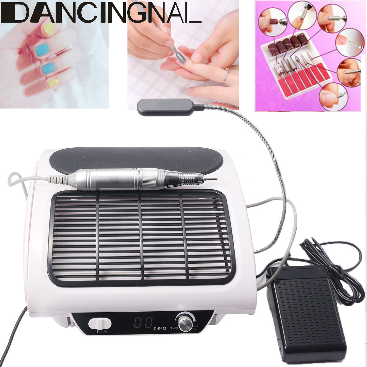 Details About 3 In 1 Electric Nail Drill Machine Nail Dust Collector Manicure Kit Desk Lamp for size 1200 X 1200
