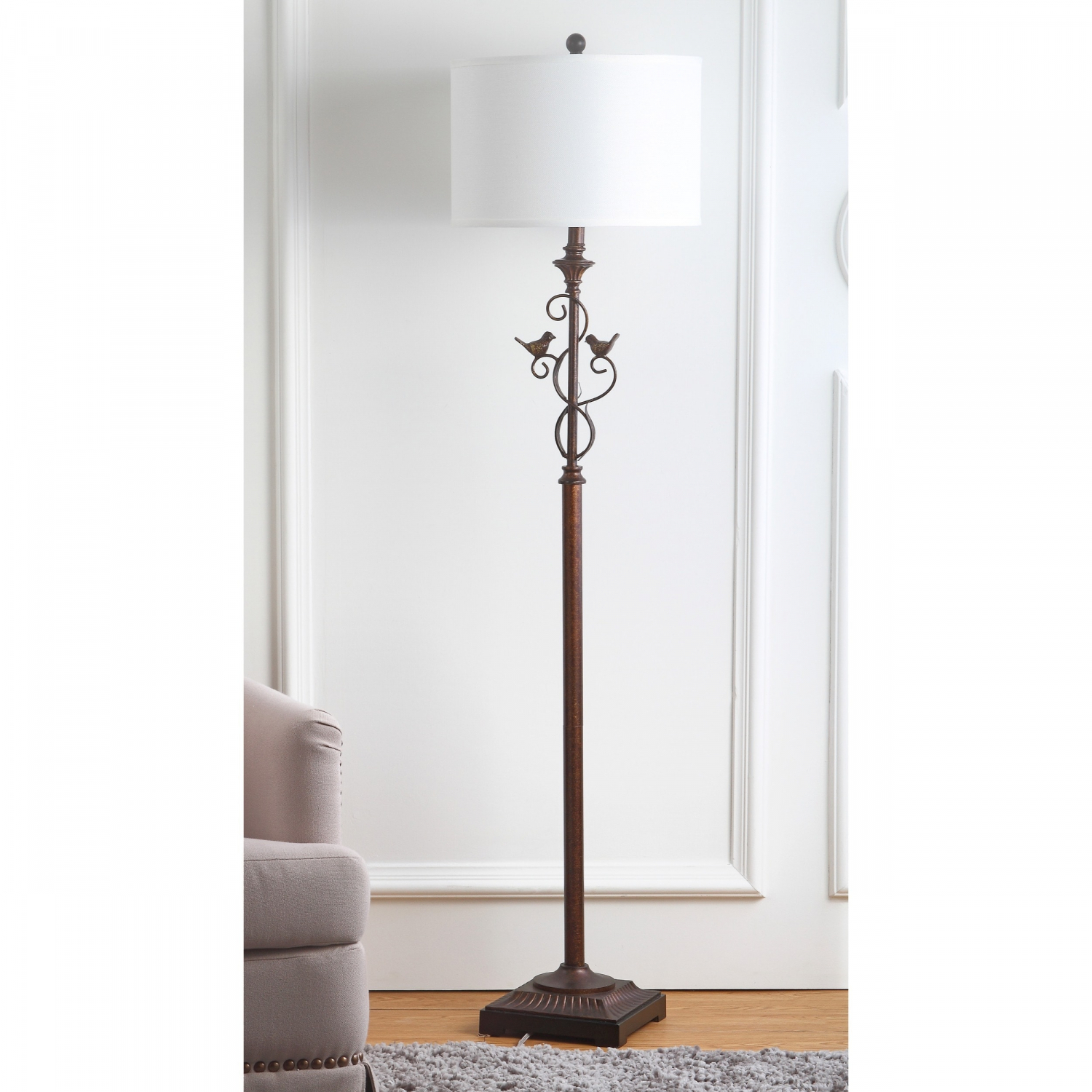 Details About Safavieh Lighting 61 Inch Birdsong Oil Rubbed Bronze Floor Lamp with regard to sizing 1500 X 1500