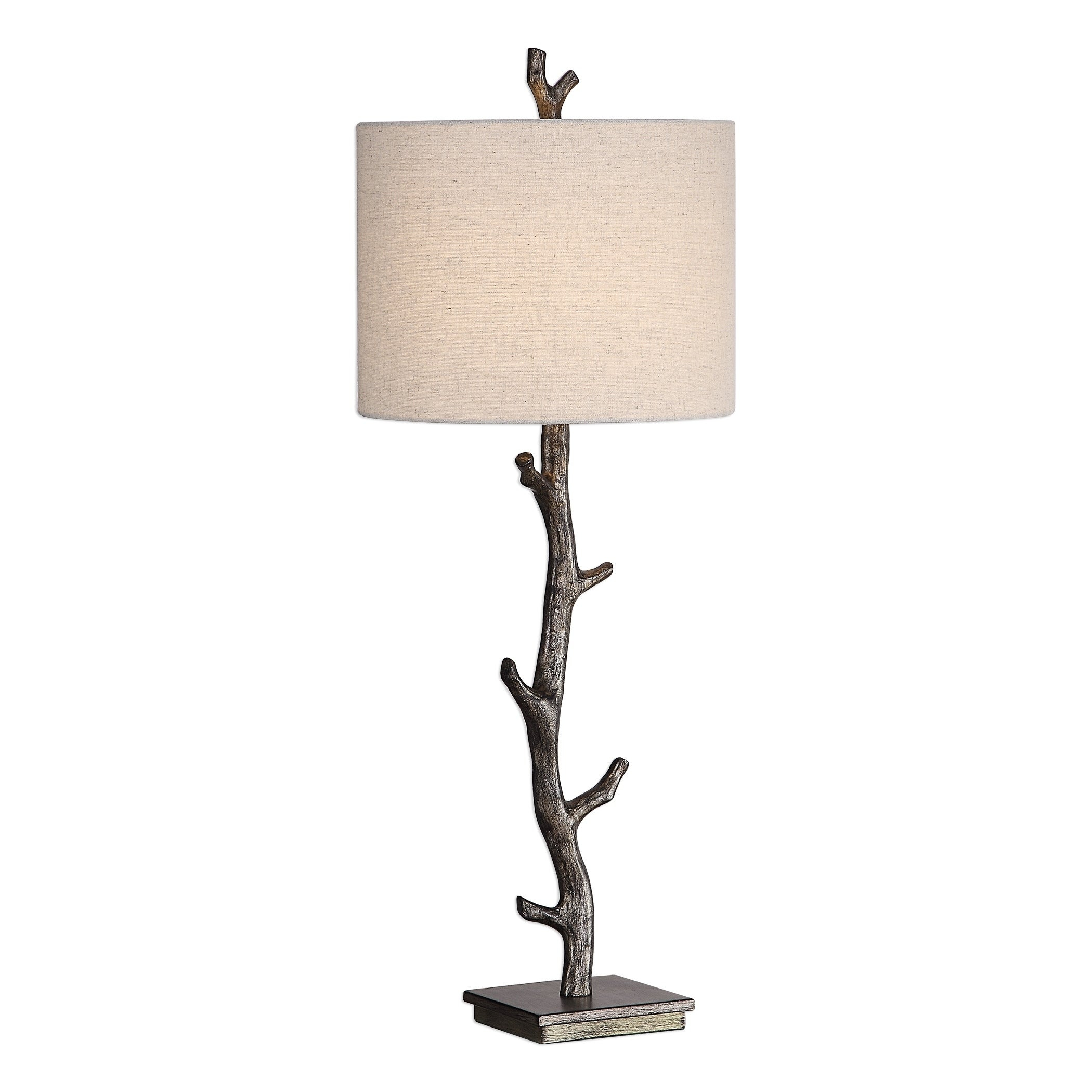 Details About Table Lamp Shade Set Light Bronze Branch Rustic Decor Home Cabin Lodge New in sizing 2100 X 2100