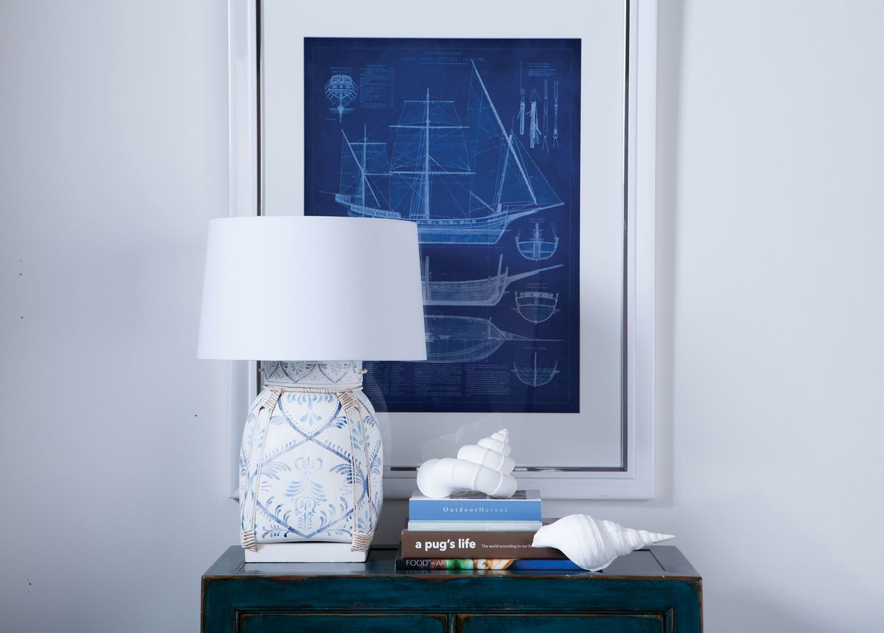 Ethan Allen 090557 Jasmine Blue Bamboo Table Lamp Oriental regarding size 1268 X 908