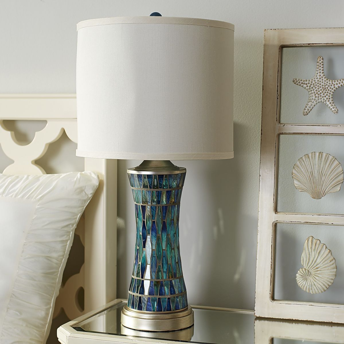 Helena Blue Mosaic Table Lamp Bedroom Lamps Blue Mosaic pertaining to proportions 1200 X 1200
