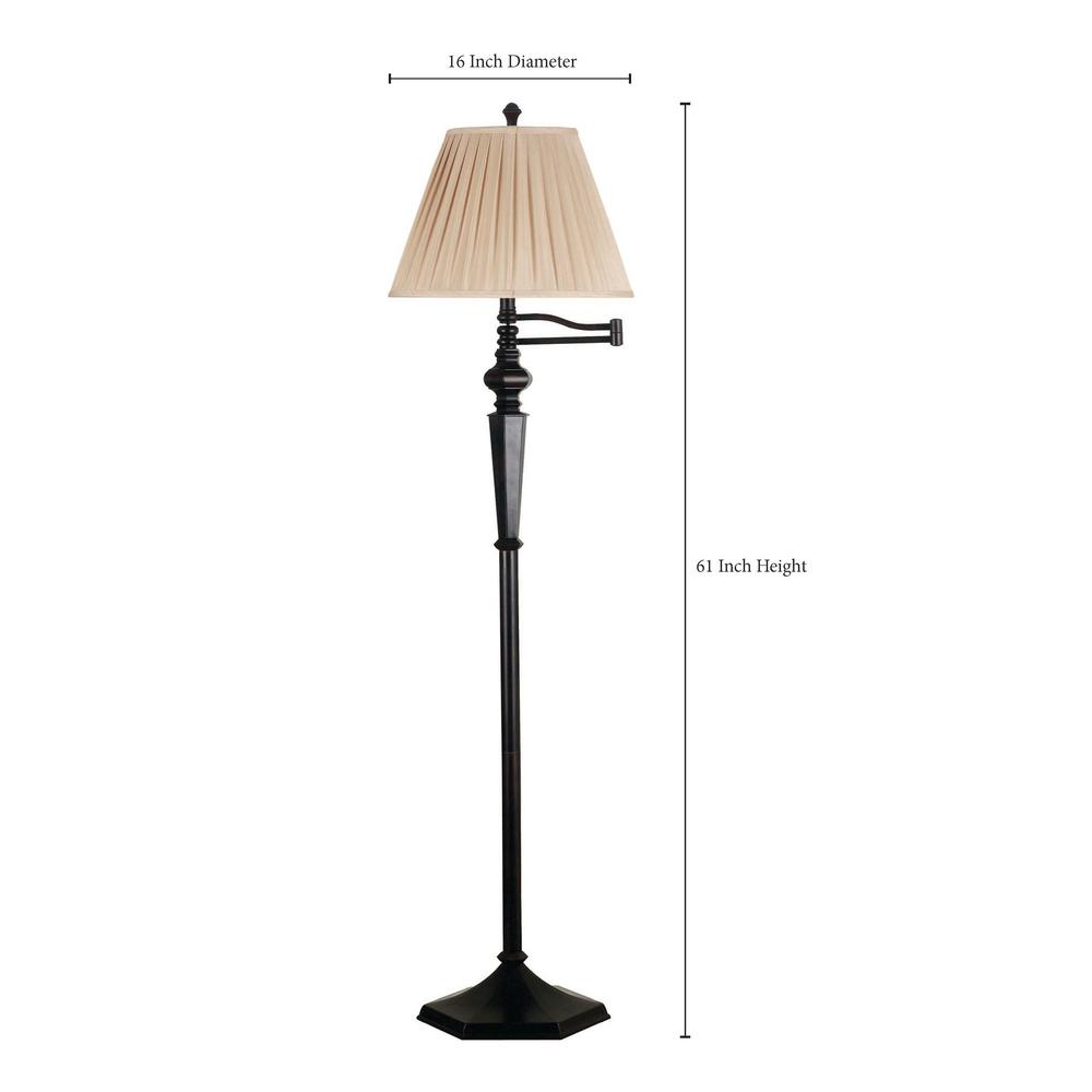 Kenroy Home Chesapeake 61 In Oil Rubbed Bronze Swing Arm Floor Lamp with regard to sizing 1000 X 1000