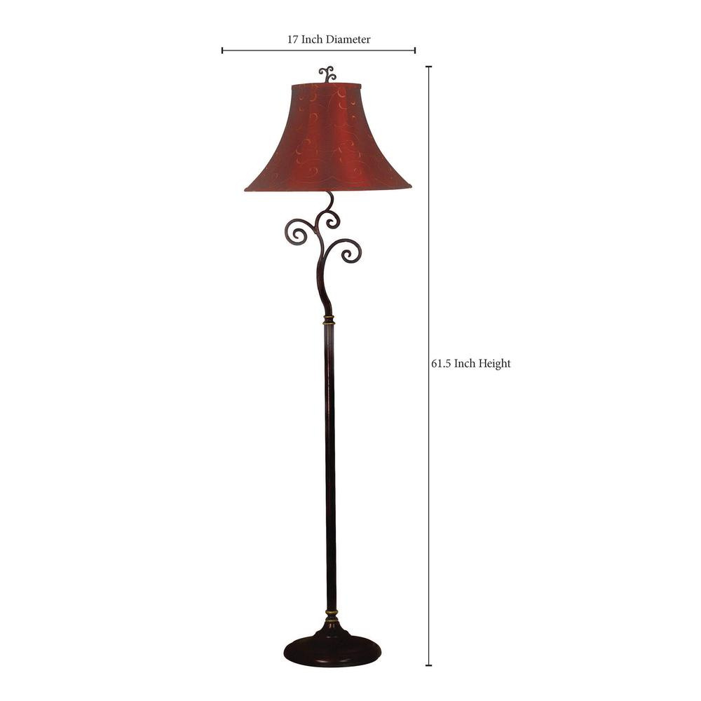 Kenroy Home Richardson 61 In Bronze Floor Lamp inside sizing 1000 X 1000