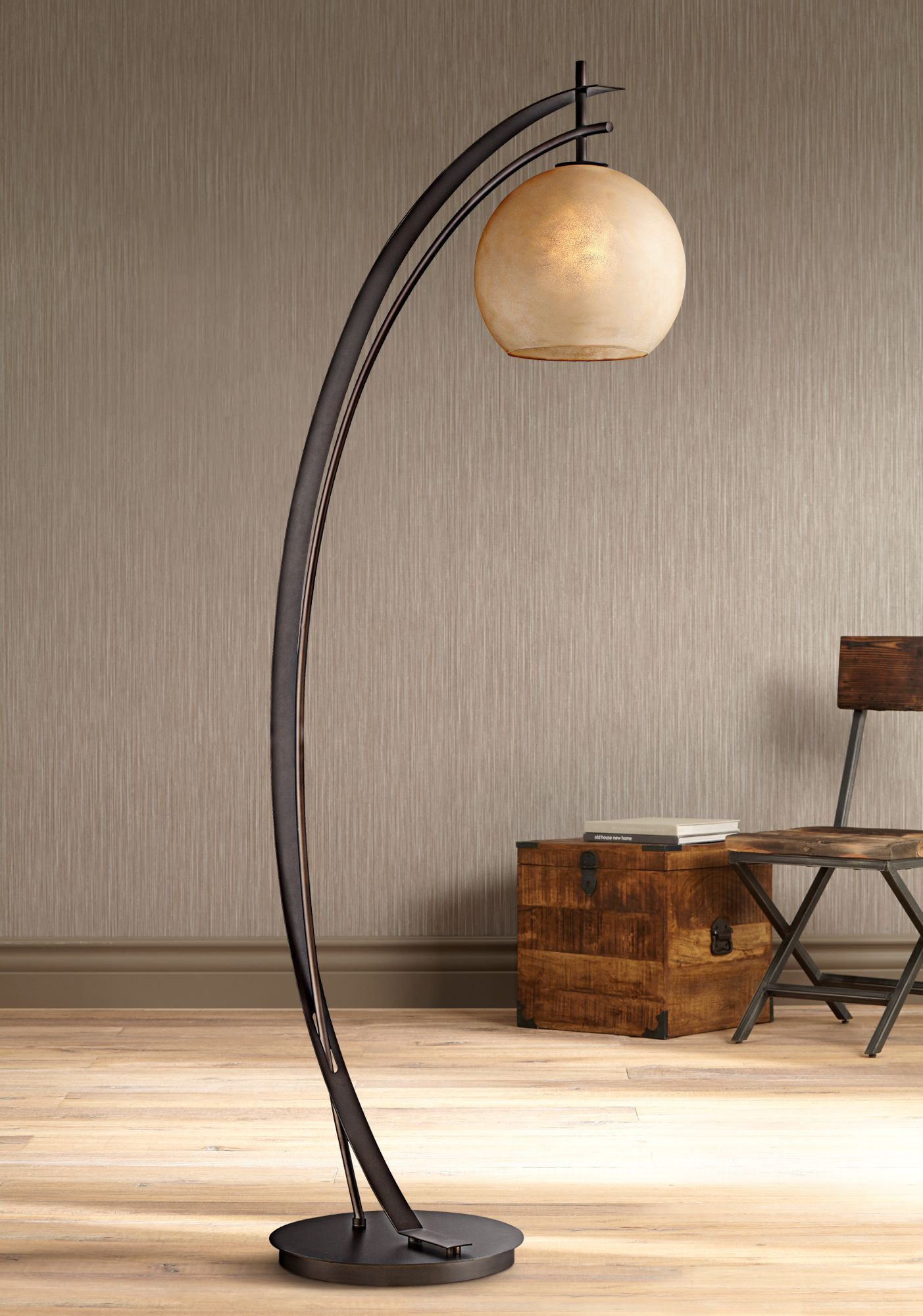 Possini Euro Venus Oil Rubbed Bronze Metal Arc Floor Lamp pertaining to proportions 1403 X 2000