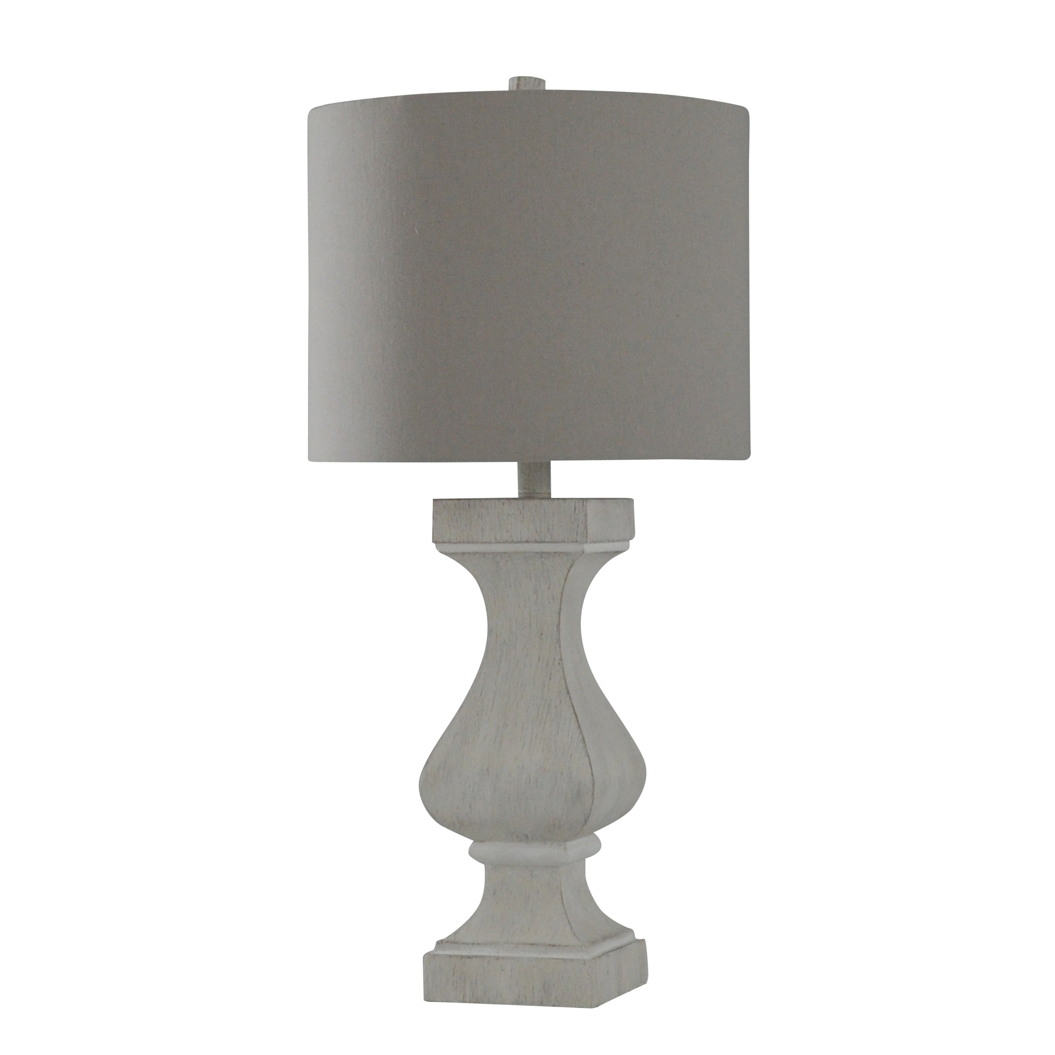 Prussia White Table Lamp With Natural Fabric Drum Shade with measurements 3500 X 3500