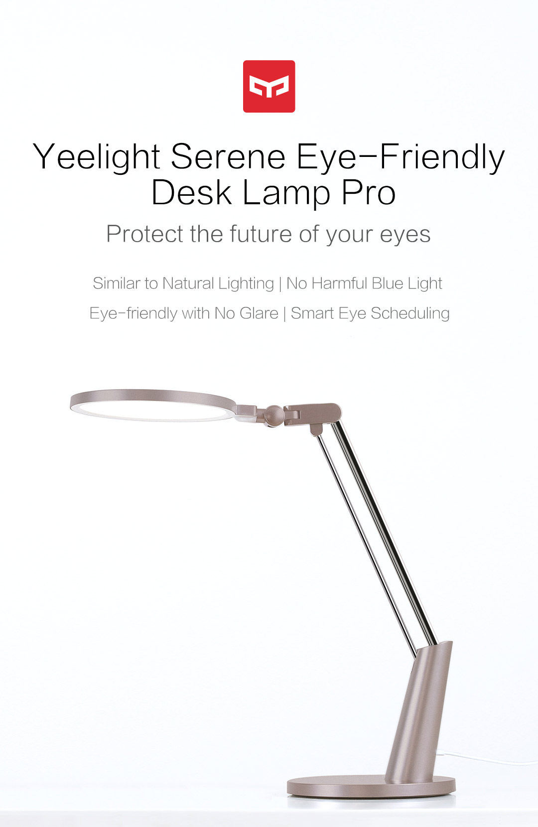 Serene Eye Friendly Desk Lamp Pro Yeelight Serene Eye regarding measurements 1080 X 1660