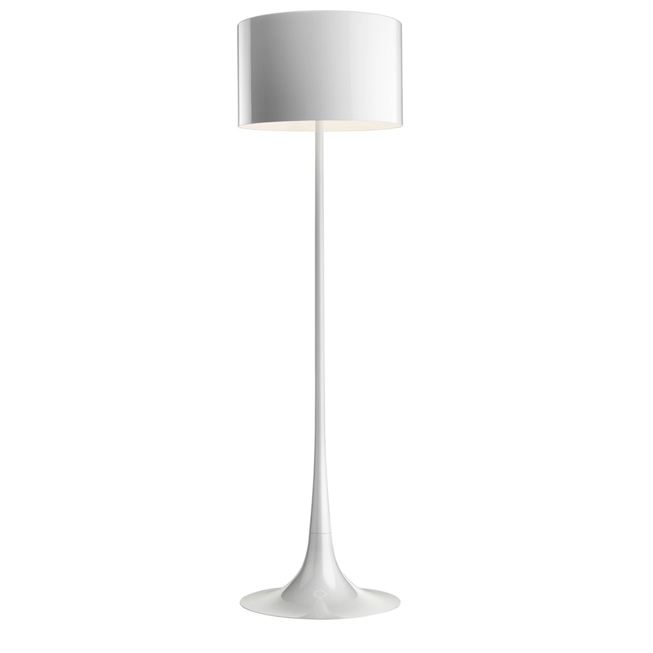 Spun Light F Floor Lamp Dimmable In Shiny White Mud And Black intended for measurements 1280 X 1280