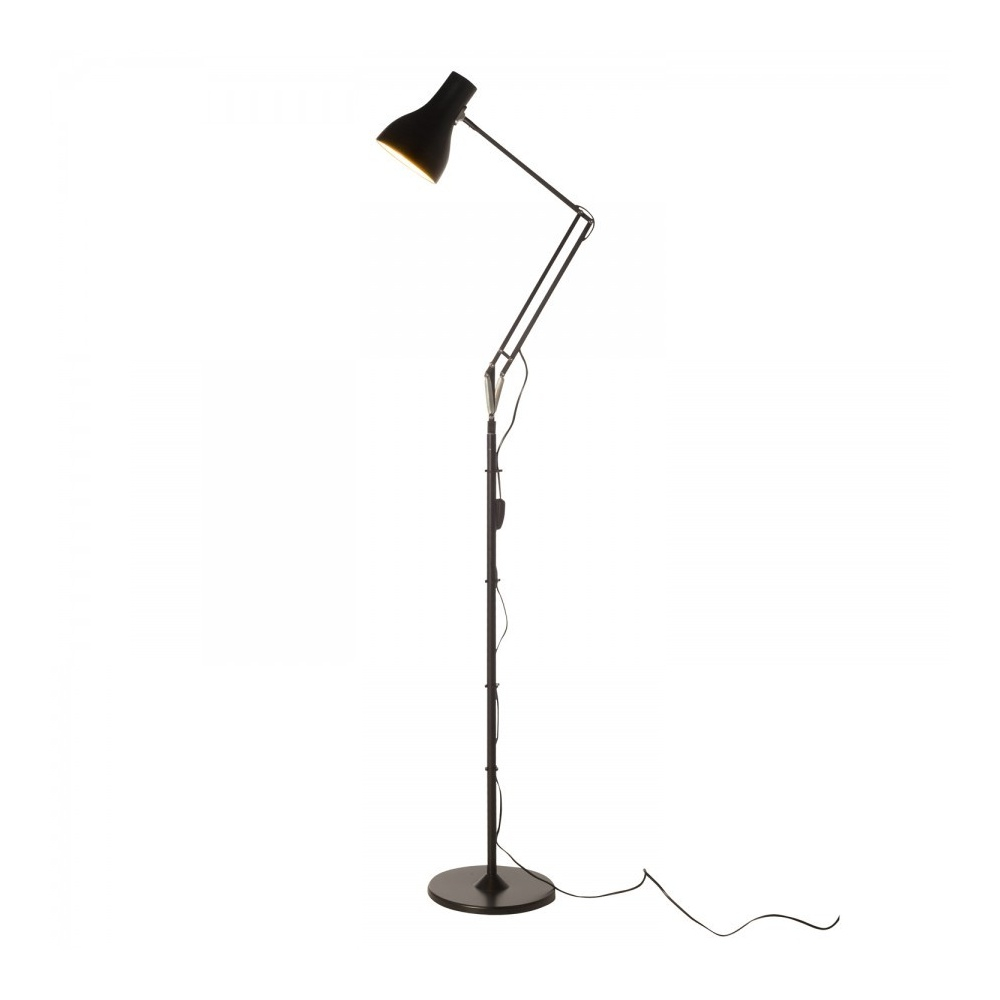 Type 75 Floor Lamp Jet Black 30507 for dimensions 1000 X 1000