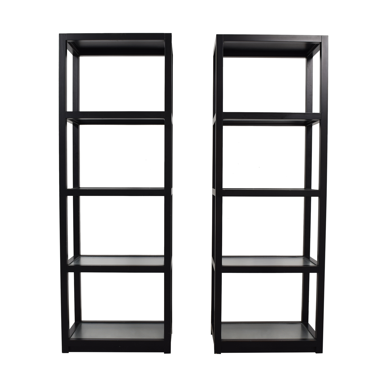 60 Off Tall Black Bookcases Storage within proportions 1500 X 1500