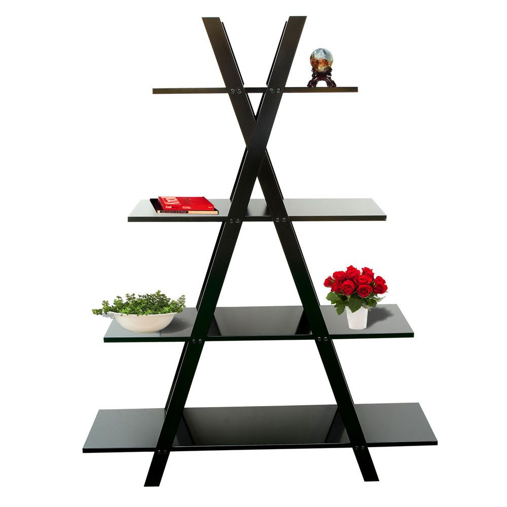 60tall Bookcase Storage Shelf X Frame Display Stand Ladder throughout dimensions 1000 X 1000