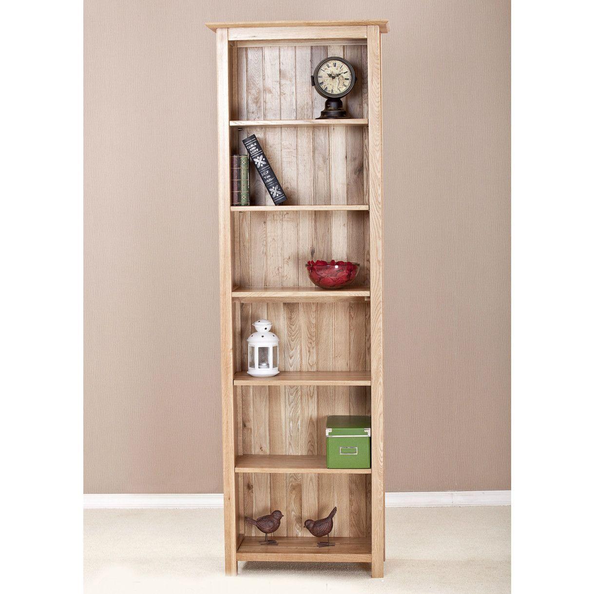 Ashton Oak Tall Narrow Bookcase Tall Narrow Bookcase Deep throughout size 1219 X 1219
